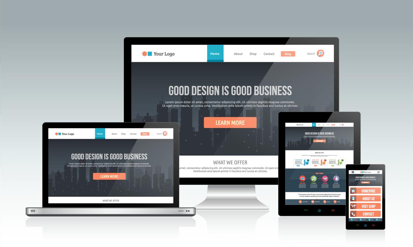 Responsives Design Mockup