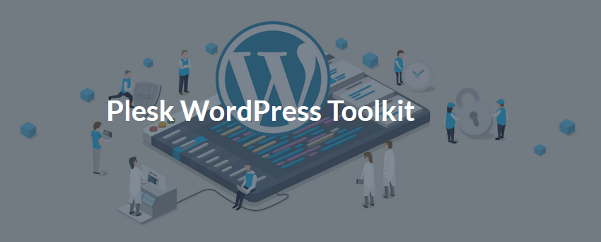 Plesk und WordPress-Toolkit Logo.